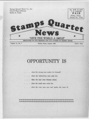 Primary view of object titled 'Stamps Quartet News (Dallas, Tex.), Vol. 17, No. 7, Ed. 1 Wednesday, August 1, 1962'.