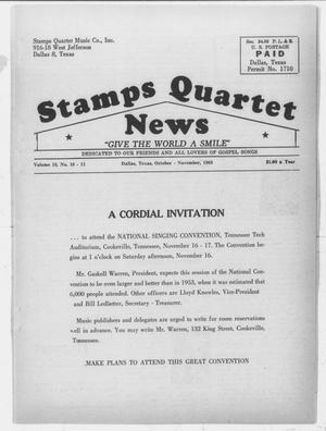 Primary view of object titled 'Stamps Quartet News (Dallas, Tex.), Vol. 18, No. 10, Ed. 1 Tuesday, October 1, 1963'.
