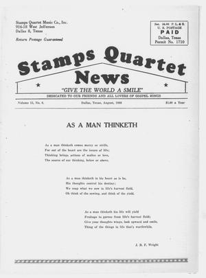 Primary view of object titled 'Stamps Quartet News (Dallas, Tex.), Vol. 15, No. 8, Ed. 1 Monday, August 1, 1960'.