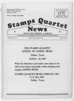 Primary view of object titled 'Stamps Quartet News (Dallas, Tex.), Vol. 14, No. 8, Ed. 1 Sunday, March 1, 1959'.