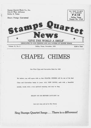 Primary view of object titled 'Stamps Quartet News (Dallas, Tex.), Vol. 15, No. 2, Ed. 1 Sunday, November 1, 1959'.
