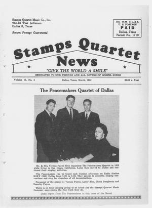 Primary view of object titled 'Stamps Quartet News (Dallas, Tex.), Vol. 15, No. 5, Ed. 1 Tuesday, March 1, 1960'.