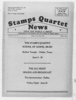Primary view of object titled 'Stamps Quartet News (Dallas, Tex.), Vol. 14, No. 10, Ed. 1 Friday, May 1, 1959'.
