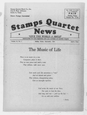 Primary view of object titled 'Stamps Quartet News (Dallas, Tex.), Vol. 15, No. 1, Ed. 1 Tuesday, September 1, 1959'.