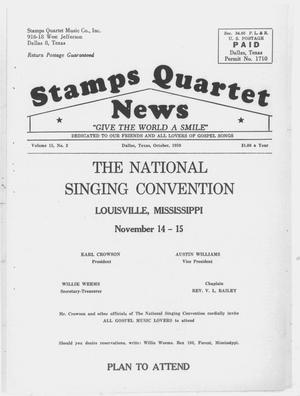 Primary view of object titled 'Stamps Quartet News (Dallas, Tex.), Vol. 15, No. 2, Ed. 1 Thursday, October 1, 1959'.