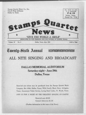 Primary view of object titled 'Stamps Quartet News (Dallas, Tex.), Vol. 18, No. 6, Ed. 1 Saturday, June 1, 1963'.
