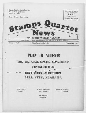 Primary view of object titled 'Stamps Quartet News (Dallas, Tex.), Vol. 14, No. 3, Ed. 1 Wednesday, October 1, 1958'.
