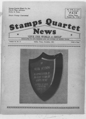Primary view of object titled 'Stamps Quartet News (Dallas, Tex.), Vol. 16, No. 11, Ed. 1 Wednesday, November 1, 1961'.