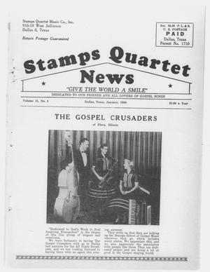 Primary view of object titled 'Stamps Quartet News (Dallas, Tex.), Vol. 15, No. 3, Ed. 1 Friday, January 1, 1960'.