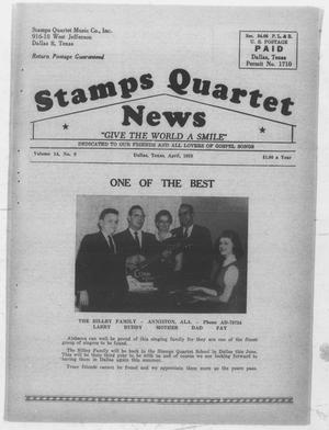 Primary view of object titled 'Stamps Quartet News (Dallas, Tex.), Vol. 14, No. 9, Ed. 1 Wednesday, April 1, 1959'.