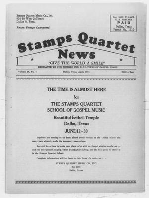 Primary view of object titled 'Stamps Quartet News (Dallas, Tex.), Vol. 16, No. 4, Ed. 1 Saturday, April 1, 1961'.