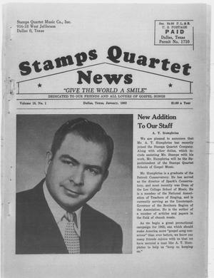 Primary view of object titled 'Stamps Quartet News (Dallas, Tex.), Vol. 18, No. 1, Ed. 1 Tuesday, January 1, 1963'.