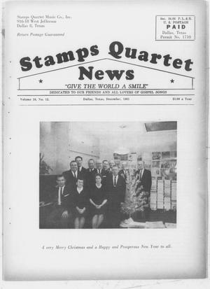 Primary view of object titled 'Stamps Quartet News (Dallas, Tex.), Vol. 16, No. 12, Ed. 1 Friday, December 1, 1961'.