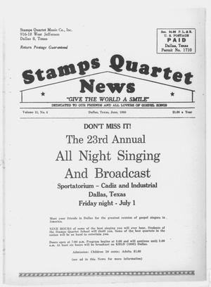 Primary view of object titled 'Stamps Quartet News (Dallas, Tex.), Vol. 15, No. 6, Ed. 1 Wednesday, June 1, 1960'.