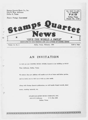 Primary view of object titled 'Stamps Quartet News (Dallas, Tex.), Vol. 15, No. 4, Ed. 1 Monday, February 1, 1960'.