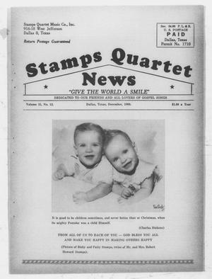 Primary view of object titled 'Stamps Quartet News (Dallas, Tex.), Vol. 15, No. 12, Ed. 1 Thursday, December 1, 1960'.