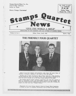 Primary view of object titled 'Stamps Quartet News (Dallas, Tex.), Vol. 15, No. 6, Ed. 1 Friday, April 1, 1960'.