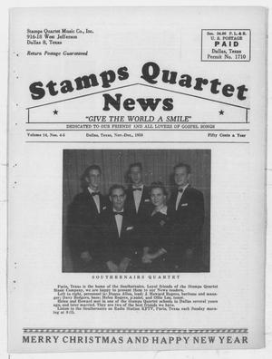 Primary view of object titled 'Stamps Quartet News (Dallas, Tex.), Vol. 14, No. 4, Ed. 1 Saturday, November 1, 1958'.