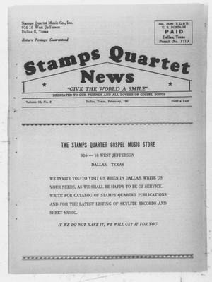 Primary view of object titled 'Stamps Quartet News (Dallas, Tex.), Vol. 16, No. 2, Ed. 1 Wednesday, February 1, 1961'.