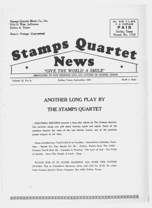 Primary view of object titled 'Stamps Quartet News (Dallas, Tex.), Vol. 15, No. 9, Ed. 1 Thursday, September 1, 1960'.