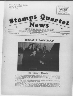 Primary view of object titled 'Stamps Quartet News (Dallas, Tex.), Vol. 17, No. 11, Ed. 1 Thursday, November 1, 1962'.