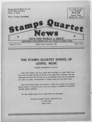 Primary view of object titled 'Stamps Quartet News (Dallas, Tex.), Vol. 16, No. 9, Ed. 1 Friday, September 1, 1961'.