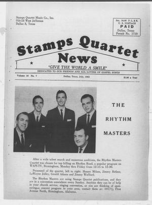 Primary view of object titled 'Stamps Quartet News (Dallas, Tex.), Vol. 18, No. 7, Ed. 1 Monday, July 1, 1963'.