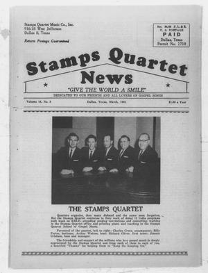 Primary view of object titled 'Stamps Quartet News (Dallas, Tex.), Vol. 16, No. 3, Ed. 1 Wednesday, March 1, 1961'.