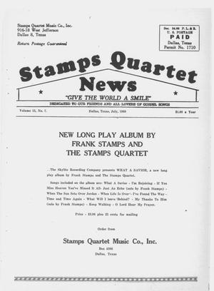 Primary view of object titled 'Stamps Quartet News (Dallas, Tex.), Vol. 15, No. 7, Ed. 1 Friday, July 1, 1960'.