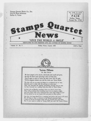 Primary view of object titled 'Stamps Quartet News (Dallas, Tex.), Vol. 18, No. 8, Ed. 1 Thursday, August 1, 1963'.