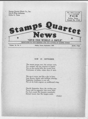 Primary view of object titled 'Stamps Quartet News (Dallas, Tex.), Vol. 18, No. 9, Ed. 1 Sunday, September 1, 1963'.