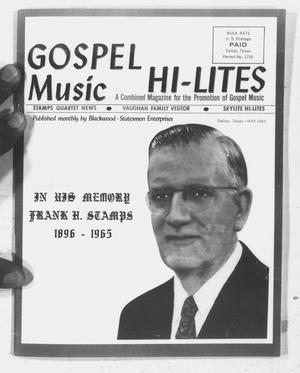 Primary view of object titled 'Gospel Music Hi-Lites (Dallas, Tex.), Vol. 11, No. 13, Ed. 1 Saturday, May 1, 1965'.