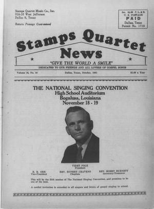 Primary view of object titled 'Stamps Quartet News (Dallas, Tex.), Vol. 16, No. 10, Ed. 1 Sunday, October 1, 1961'.