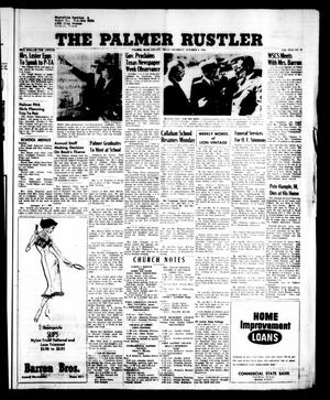 Primary view of object titled 'The Palmer Rustler (Palmer, Tex.), Vol. 31, No. 39, Ed. 1 Thursday, October 4, 1956'.