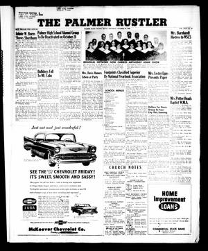 Primary view of object titled 'The Palmer Rustler (Palmer, Tex.), Vol. 31, No. 41, Ed. 1 Thursday, October 18, 1956'.