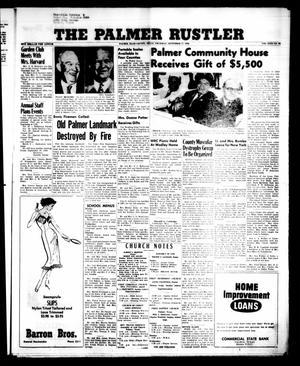 Primary view of object titled 'The Palmer Rustler (Palmer, Tex.), Vol. 31, No. 38, Ed. 1 Thursday, September 27, 1956'.