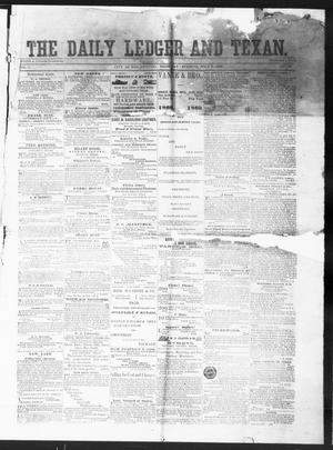 Primary view of object titled 'The Daily Ledger and Texan (San Antonio, Tex.), Vol. 1, No. 156, Ed. 1, Thursday, July 5, 1860'.