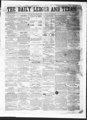 Primary view of object titled 'The Daily Ledger and Texan (San Antonio, Tex.), Vol. 1, No. 167, Ed. 1, Friday, July 20, 1860'.
