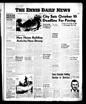 Primary view of object titled 'The Ennis Daily News (Ennis, Tex.), Vol. 65, No. [223], Ed. 1 Wednesday, September 19, 1956'.