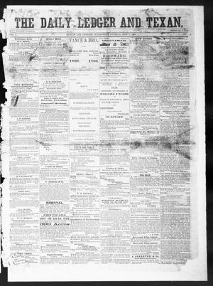 Primary view of object titled 'The Daily Ledger and Texan (San Antonio, Tex.), Vol. 1, No. 199, Ed. 1, Wednesday, September 5, 1860'.
