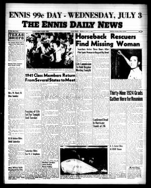 Primary view of object titled 'The Ennis Daily News (Ennis, Tex.), Vol. 66, No. 155, Ed. 1 Monday, July 1, 1957'.