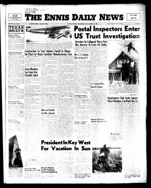 Primary view of object titled 'The Ennis Daily News (Ennis, Tex.), Vol. 64, No. 305, Ed. 1 Wednesday, December 28, 1955'.