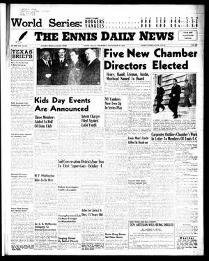 Primary view of object titled 'The Ennis Daily News (Ennis, Tex.), Vol. 64, No. 230, Ed. 1 Thursday, September 29, 1955'.