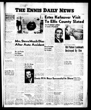 Primary view of object titled 'The Ennis Daily News (Ennis, Tex.), Vol. 65, No. 227, Ed. 1 Monday, September 24, 1956'.
