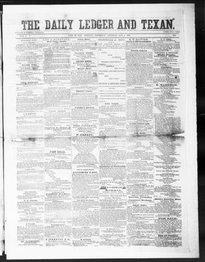 Primary view of object titled 'The Daily Ledger and Texan (San Antonio, Tex.), Vol. 1, No. 342, Ed. 1, Thursday, January 3, 1861'.