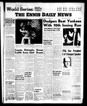 Primary view of object titled 'The Ennis Daily News (Ennis, Tex.), Vol. 65, No. 240, Ed. 1 Tuesday, October 9, 1956'.
