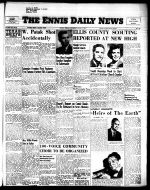 Primary view of object titled 'The Ennis Daily News (Ennis, Tex.), Vol. 64, No. 138, Ed. 1 Saturday, June 11, 1955'.