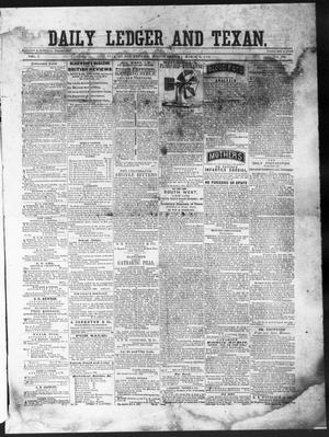 Primary view of object titled 'The Daily Ledger and Texan (San Antonio, Tex.), Vol. 1, No. 390, Ed. 1, Friday, March 8, 1861'.