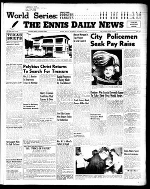 Primary view of object titled 'The Ennis Daily News (Ennis, Tex.), Vol. 64, No. 234, Ed. 1 Tuesday, October 4, 1955'.
