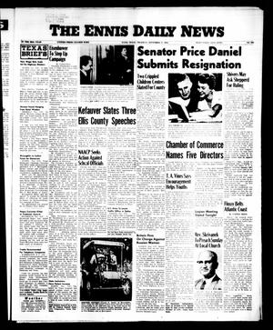Primary view of object titled 'The Ennis Daily News (Ennis, Tex.), Vol. 65, No. 230, Ed. 1 Thursday, September 27, 1956'.